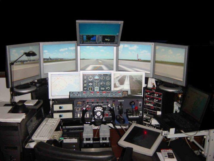simulatore volo 747