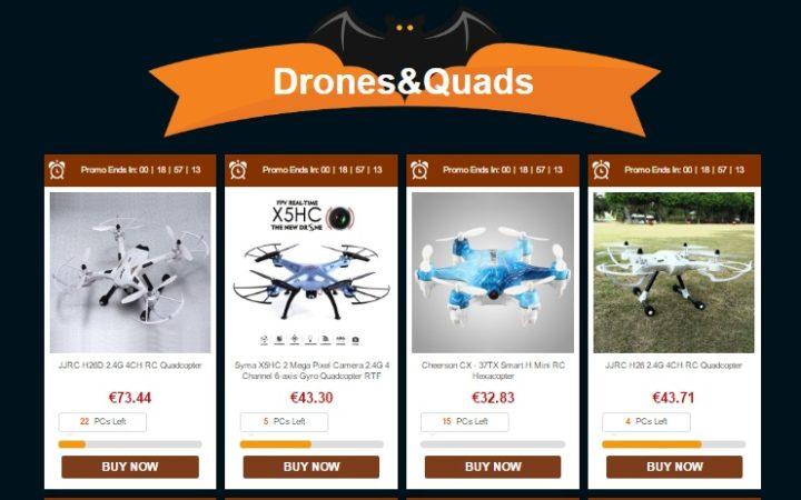 epic-hallowen-sale-gearbest-sconti-droni-action-drones