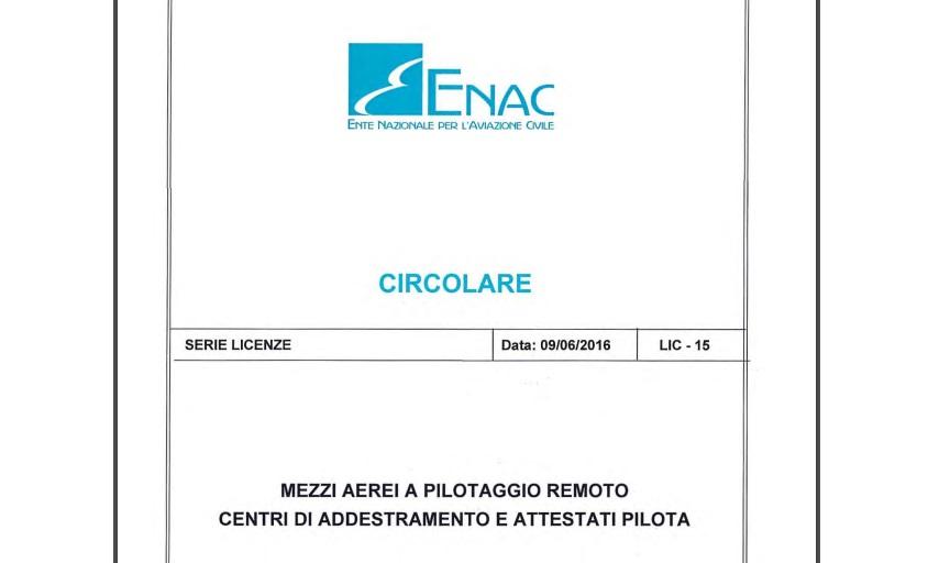 circolare lic 15-enac-classi categorie sapr-tipo di addestramento sapr