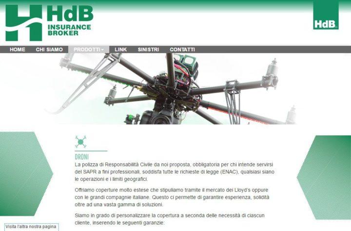Hdb-polizze per droni-sapr-enac-assicurazione-droni