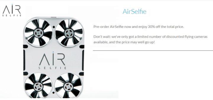 AirSelfie Pre-Order : la prima flying camera tascabile è pronta al lancio