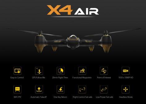 recensione Hubsan X4 Air H501A-drone con gps-drone fpv-drone hubsan