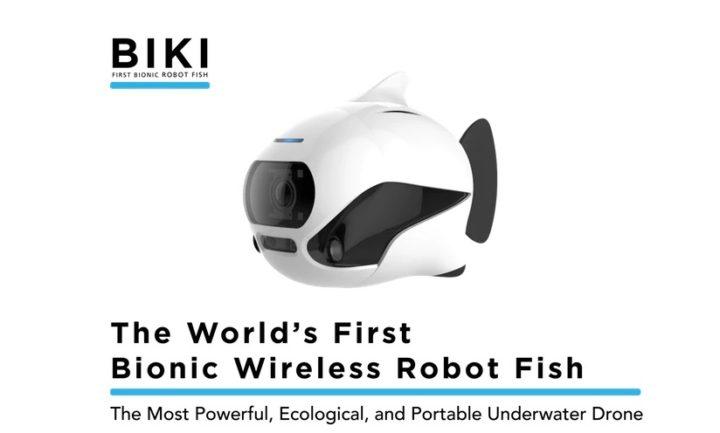 recensione drone sottomarino biki-drone a forma di pesce-drone pesce-drone sottomarino 4k