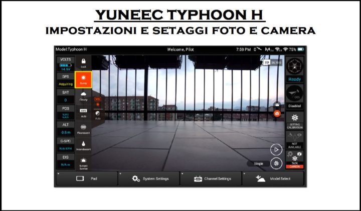 Typhoon H: Impostazioni Camera, Foto e Video