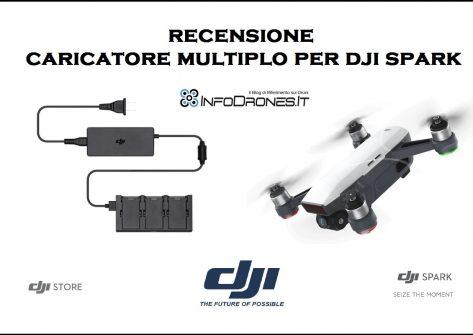 recensione caricatore multiplo dji spark italia- spark battery charging hub ita