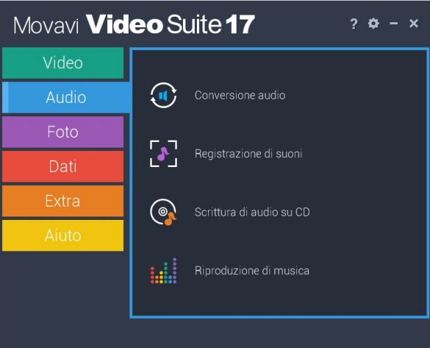 Movavi Video suite suono