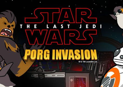 Facebook star wars porg invasion-giochi su facebook-giochi star wars -facebook messenger
