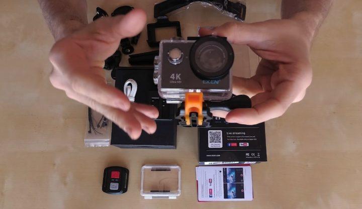 video action cam eken h9r unboxing