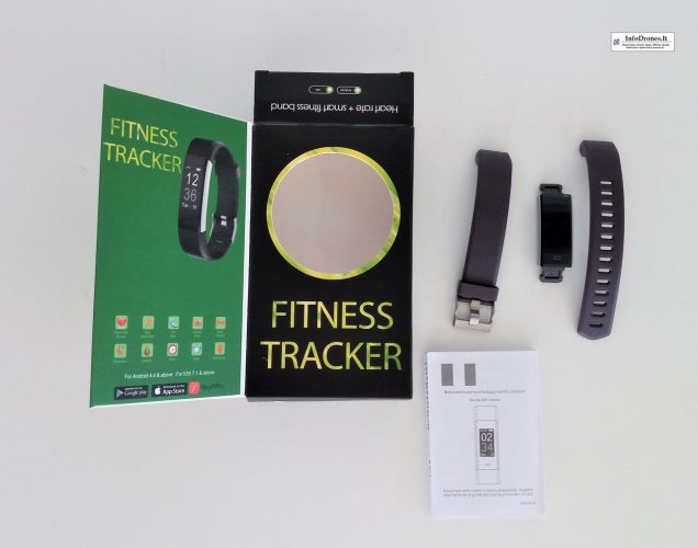 contenuto Fitness Tracker Yamay SW 333