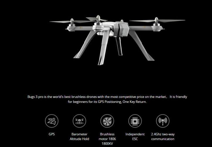 nuovo drone mjx bugs 3 pro caratteristiche tecniche
