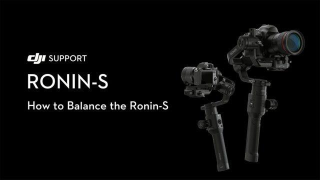 Come bilanciare il DJI Ronin-S