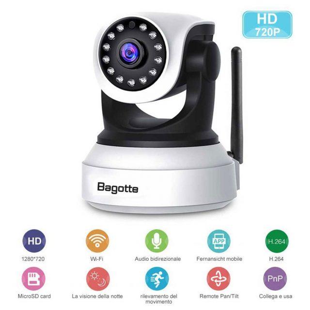 Telecamera di sorveglianza Bagotte 720P IP Camera