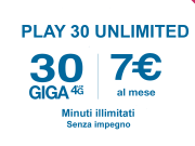 play 30 unlimited di 3 italia