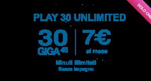 play 30 unlimited di 3 italia